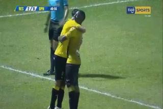 Jhow Benavídez anota el 2 - 0 de Real España ante UPN