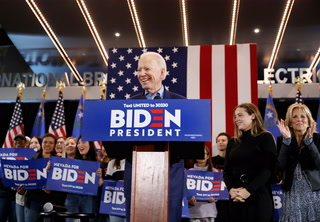 Joe Biden addresses supporters in Las Vegas