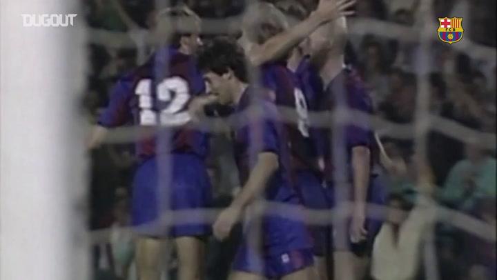 Todos os gols de Ronald Koeman contra o Real Madrid