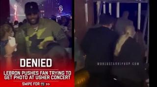 Viral: Un LeBron James con poca paciencia empujó a un fanático que le pidió una foto en el concierto de Usher
