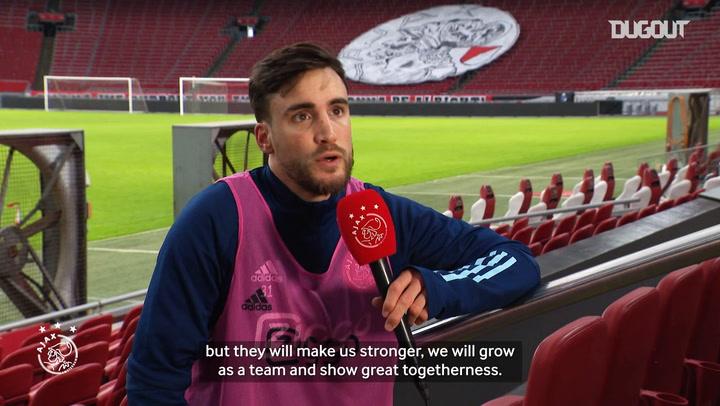 Nico Tagliafico on Ajax's reaction to Haller's omission and Onana's ban