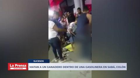 Matan a un ganadero dentro de una gasolinera en Sabá, Colón