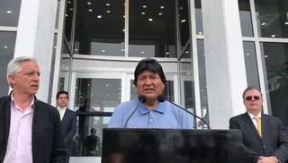 Las palabras de Evo Morales al llegar a México tras asilo político