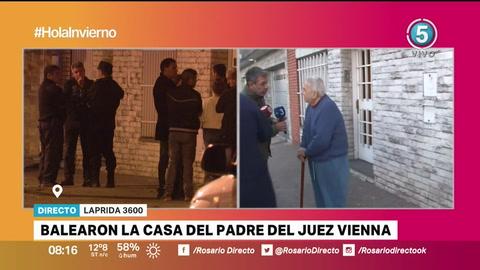 Otro ataque a tiros, esta vez contra la casa del padre del juez Juan Carlos Vienna