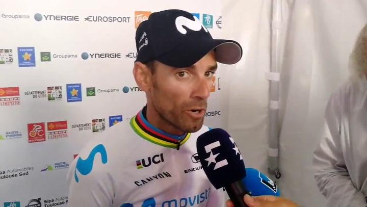 Valverde brilla en la montaña y sigue líder de la Ruta de Occitania