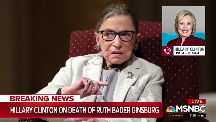 Hillary Clinton: Dems Must Employ Every Possible 'Obstacle' to Stop McConnell from Replacing Ginsburg