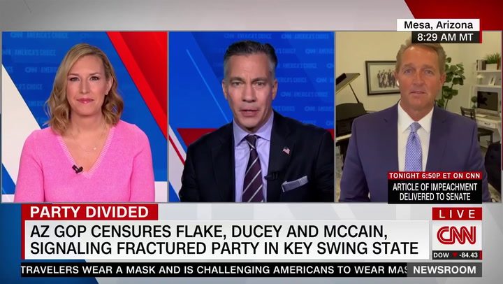 Flake: 'There Is No Future' for the Republican Party with Trumpism