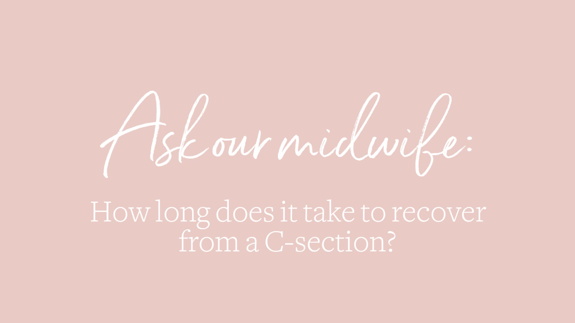What happens during a C-section?