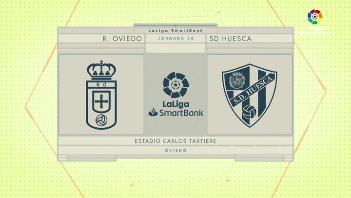 LaLiga SmartBank (J24): Resumen y goles del Oviedo 1-1 Huesca