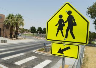 North Las Vegas unveils new school crosswalk