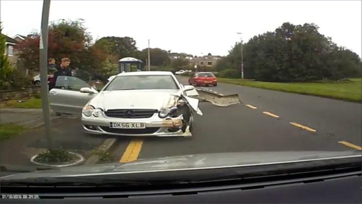Graham filmet sjåførens vanvittige råkjøring