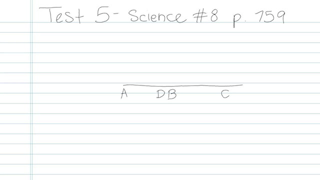 Test 5 - Science - Question 8