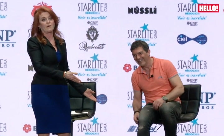 Sarah, Duchess of York and Antonio Banderas give back at the Starlite Gala