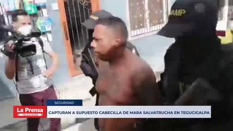 Capturan a supuesto cabecilla de Mara Salvatrucha en Tegucigalpa