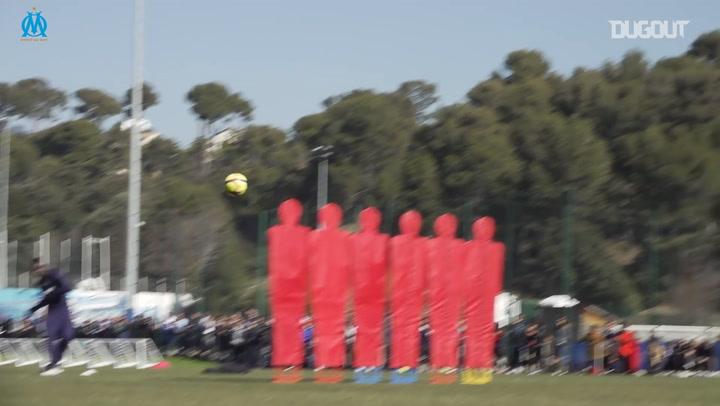 Payet, Thauvin And Balotelli Free-Kick Challenge
