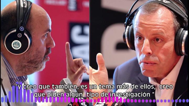 """Rosell:  """"Lamela se equivocó en mi contra y a favor de Mediapro"""""""