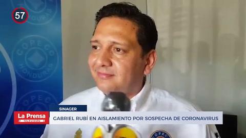 Noticiero: Gabriel Rubí en aislamiento por sospechas de coronavirus