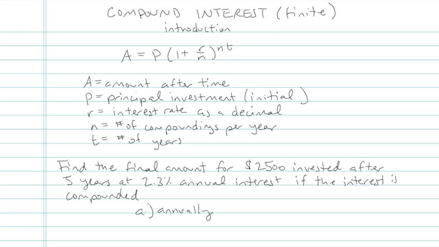 Compound Interest (Finite Number of Calculations) - Problem 7