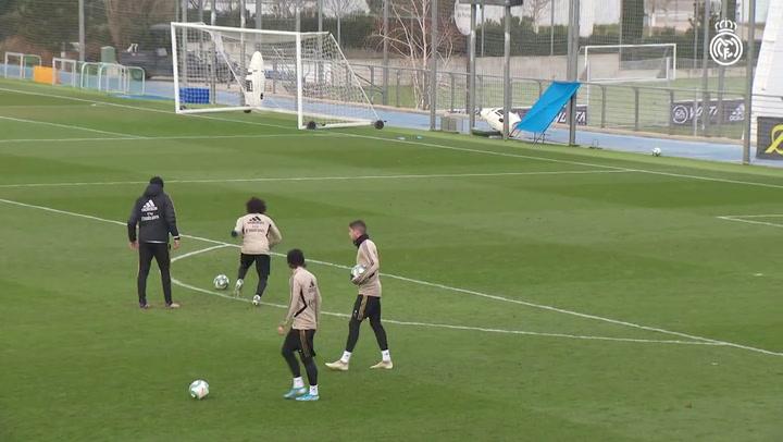 Ramos y Benzema, listos para recibir al Sevilla