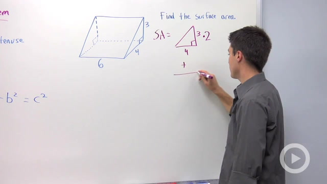 Using the Pythagorean Theorem to find a Missing Hypotenuse - Problem 3