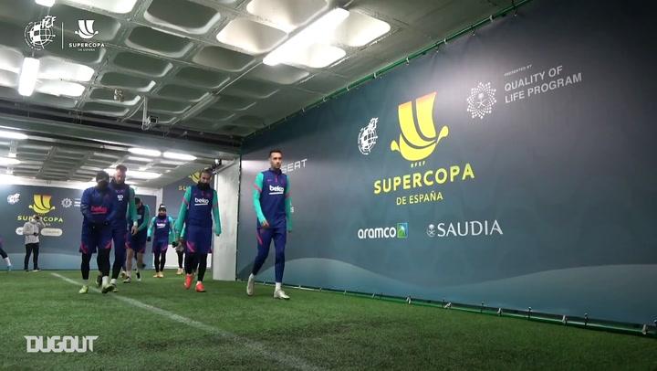 تدريبات برشلونة قبل مواجهة ريال سوسيداد في كأس السوبر الأسباني