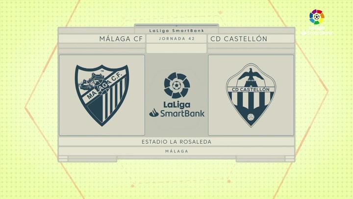 LaLiga SmartBank (J42): Resumen y goles del Málaga 3-0 Castellón