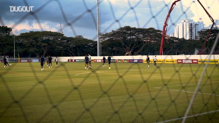 Brazil national team train ahead of friendlies in Singapore