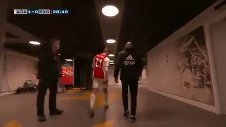 De Jong se lesiona con el Ajax