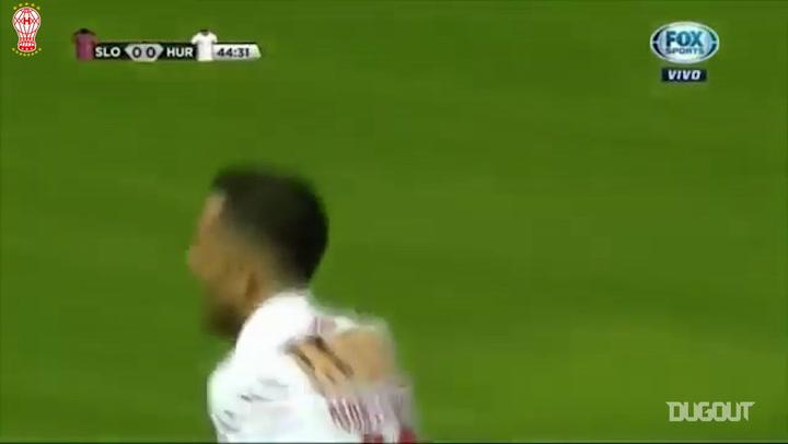 Daniel Montenegro's free-kick goal vs San Lorenzo