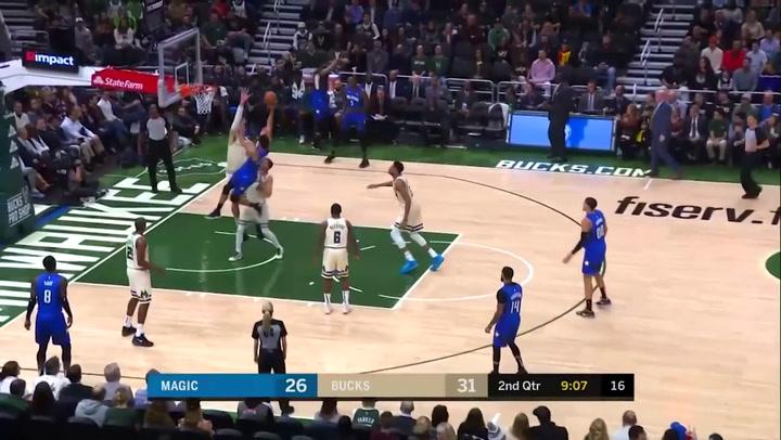Giannis Antetokounmpo (Bucks), el más destacado de la jornada de la NBA del 9 diciembre 2019