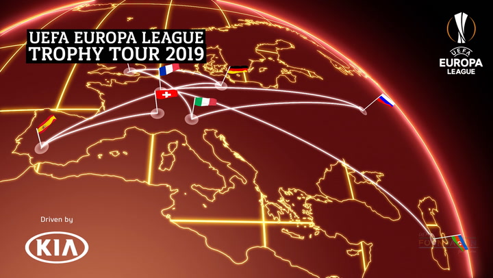 UEFA Europa League Trophy Tour 2019 | Milan | Kia
