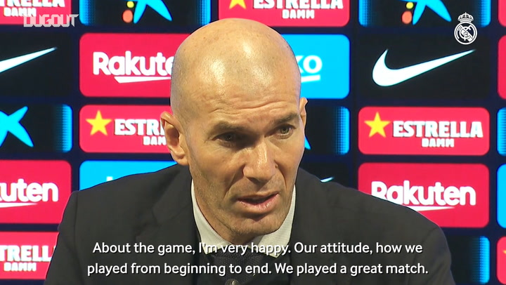 Zidane: 'We put in a great performance'