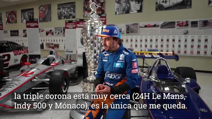 """Alonso, sobre la Indy500: """"Podría ser la victoria más importante de mi vida"""""""