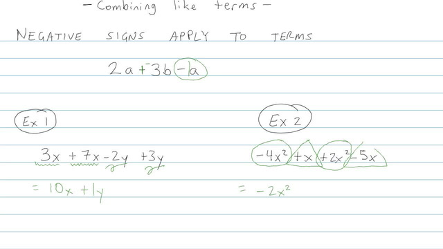 Simplifying Expressions and Combining Like Terms - Problem 5