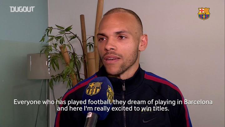 Martin Braithwaite's First FC Barcelona Interview