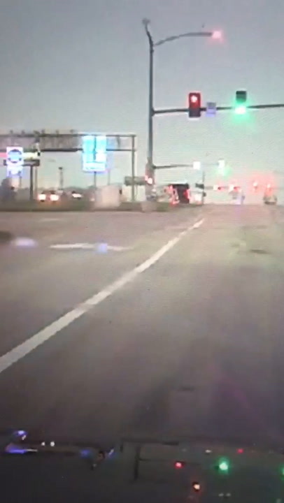 VIDEO: High winds blow tractor-trailer off Highway 54 overpass