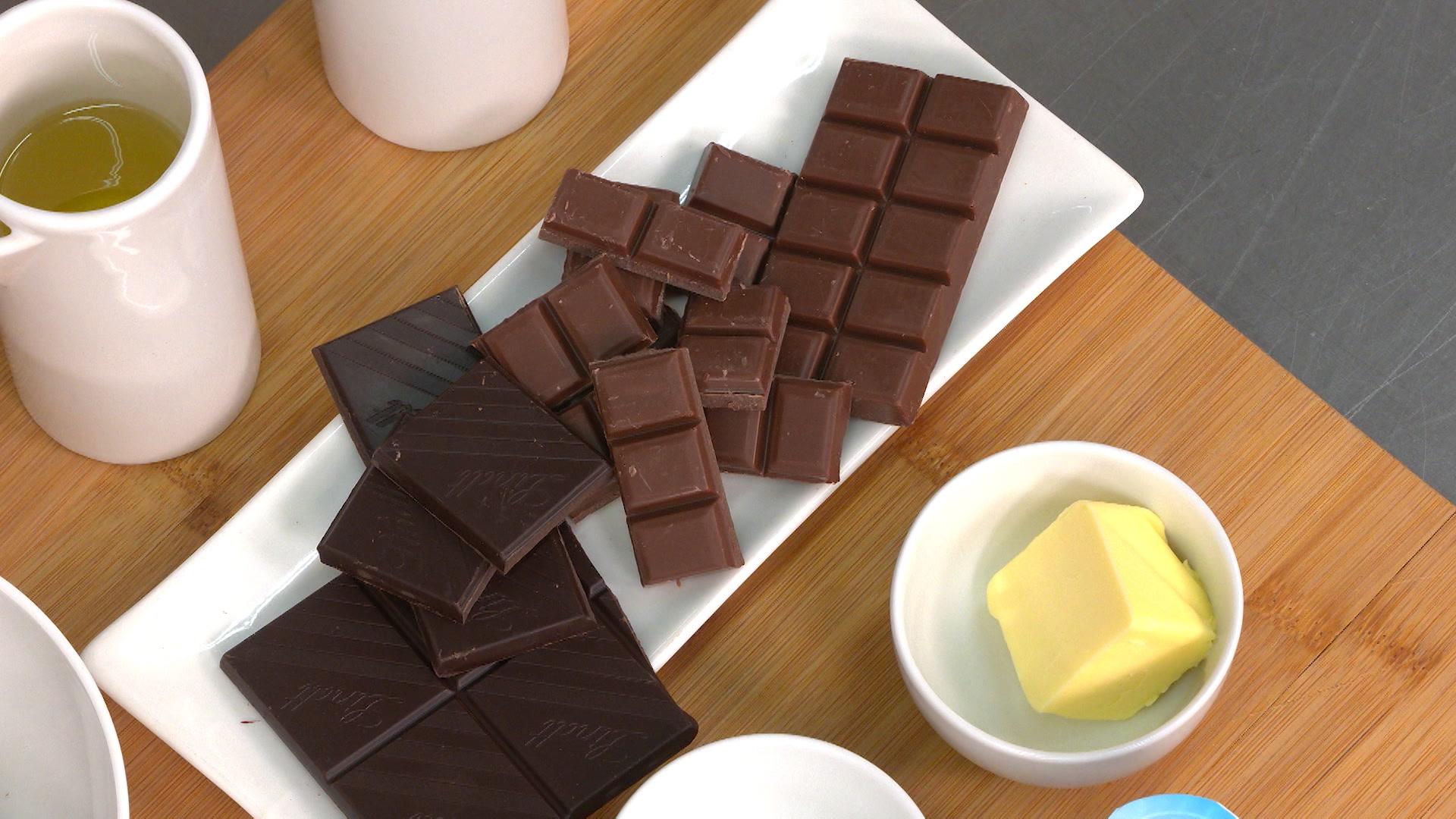 Tipos de chocolates para un bizcocho