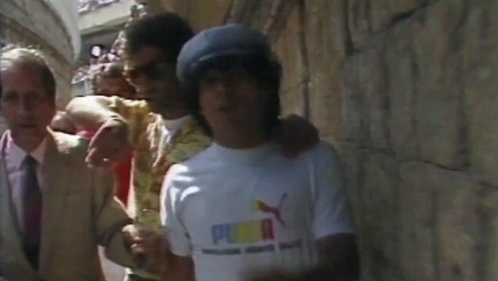Las primeras imágenes de la película de la vida de Maradona