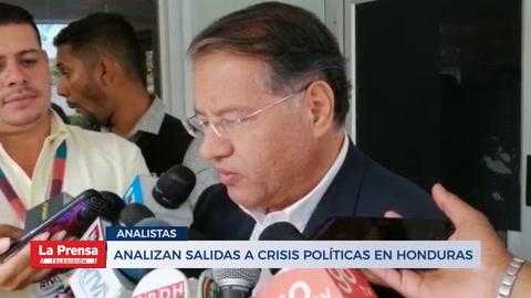 Analizan salidas a crisis políticas en Honduras