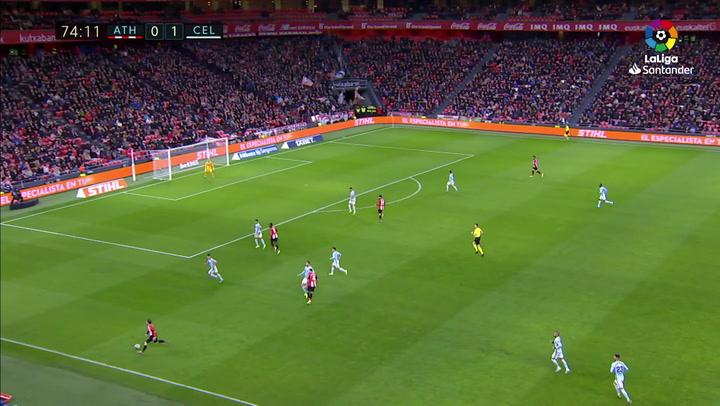 Gol de Raúl García (p.) (1-1) en el Athletic 1-1 Celta