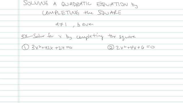 Solving a Quadratic by Completing the Square - Problem 8