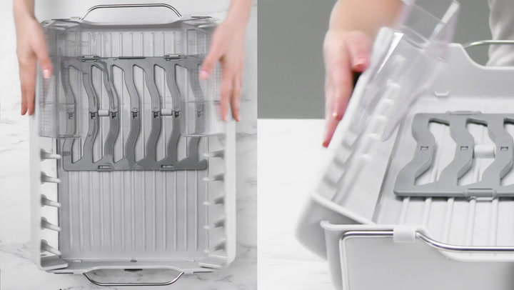 Preview image of OXO Foldaway Dishrack video