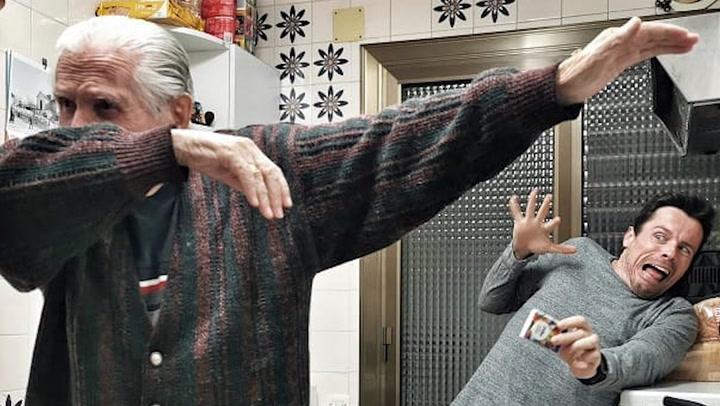 El divertido diario de cuarentena de Octavi Pujades con su padre