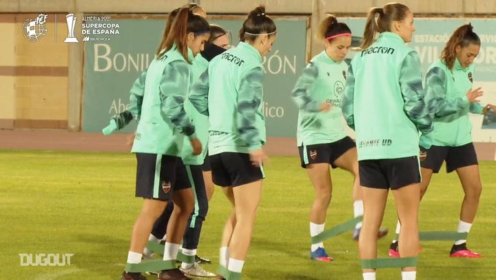 Levante and Atlético prepare for the Spanish Women's Supercup