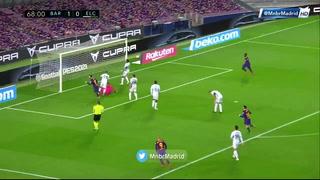 Lionel Messi anotó un doblete en el triunfo del Barcelona