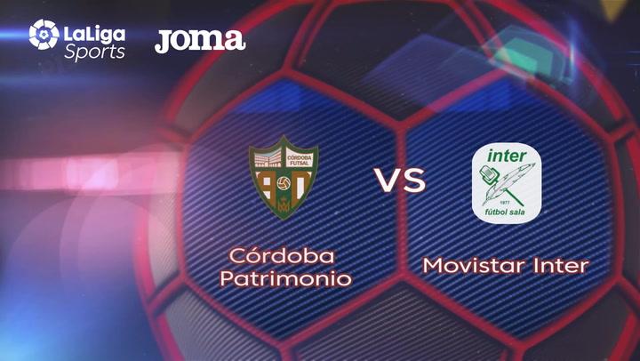 LNFS. Jornada 3: Cordoba Patrimonio - Movistar Inter (2-3)