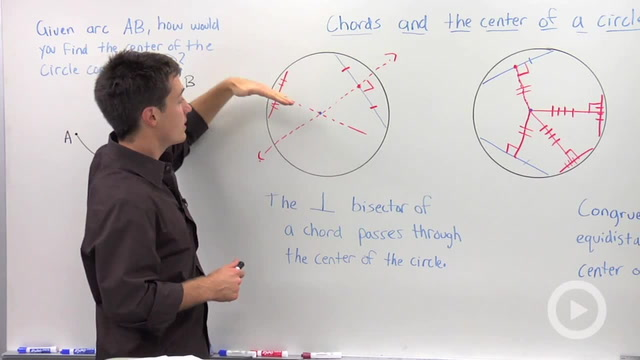 Chords and a Circle's Center - Problem 2