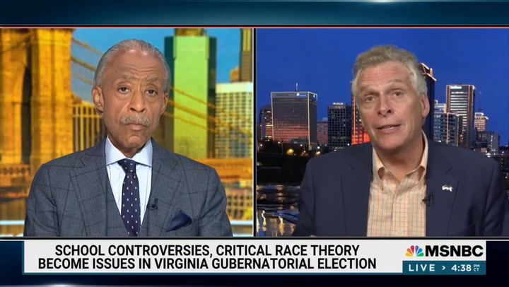 McAuliffe: CRT in Schools 'Is Now the New MS-13' - Youngkin Has Parents 'Fired Up about Issues That Don't Exist'