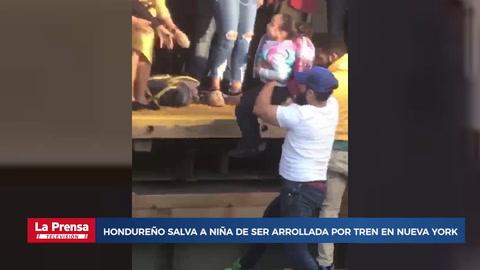 Hondureño salva a niña de ser arrollada por tren en Nueva York
