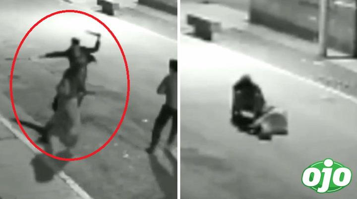 Sujeto ataca con un palo y arrastra por la pista a su pareja en Puente Piedra | VIDEO